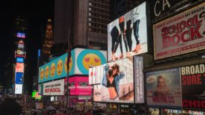 Billboards representing various communication plans on advertising and marketing strategies.